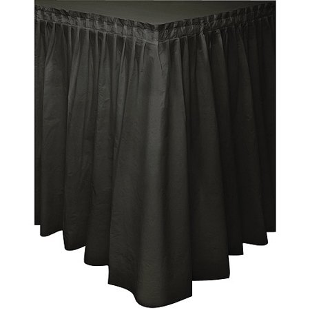 Black Plastic Table Skirt, 14ft for $<!---->