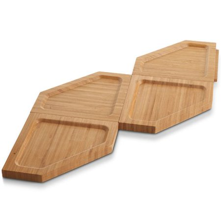 VonShef Jigsaw 4 Piece Cheese Board & Platter Set