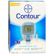 CONTOUR Blood Glucose Monitoring System Blue 1 Each