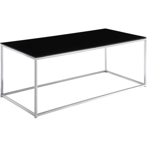 Kale Glass Coffee Table Black Chrome