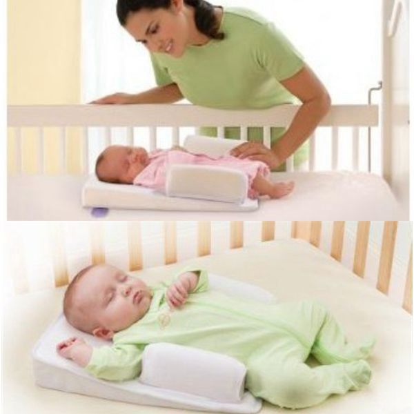 Newborn Infant Baby Anti-roll Pillow Baby Sleep Pillow Support Wedge Newborn