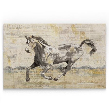 Alcott Hill Golden Stallion Ii Oil Painting Print On Wrapped Canvas
