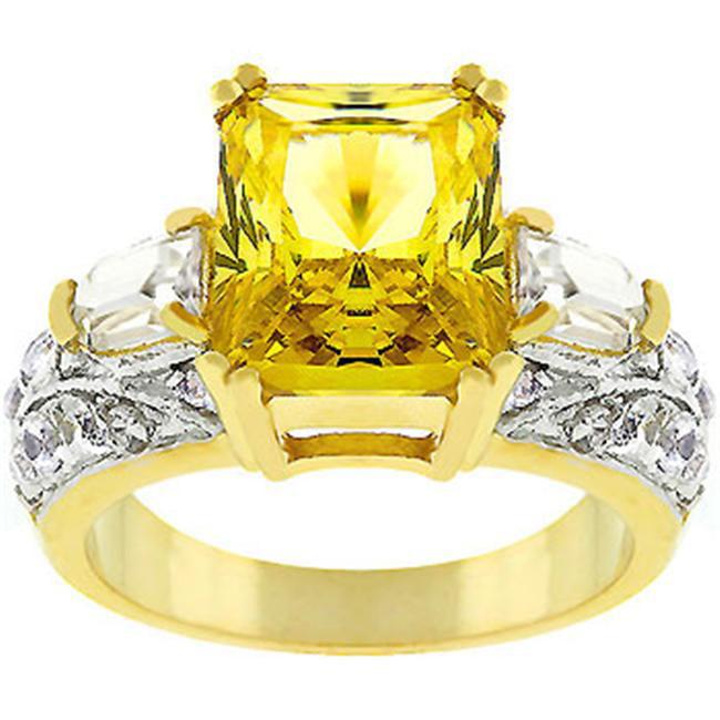 Sunrise Wholesale J3205 14K Gold Bonded Yellow Fashion Ring - Size 05