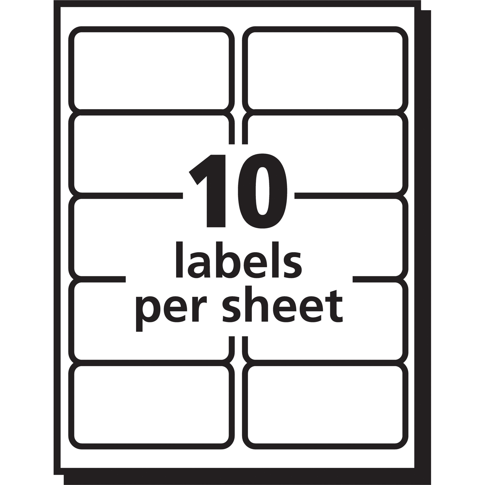 Avery Easy Peel Shipping Labels For Laser Printers 2 X 4 In Clear