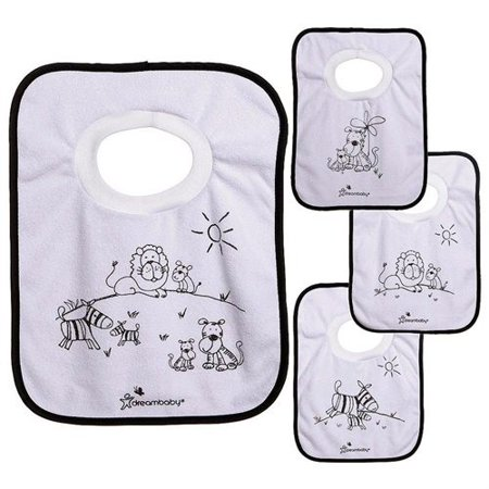 Dreambaby Jungle Theme Pullover Bibs - 4 - Jungle Themed Vbs