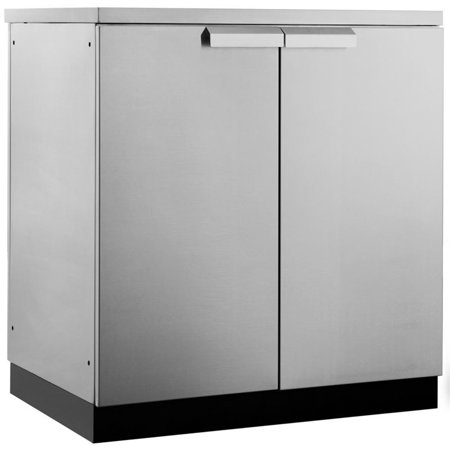 NewAge Outdoor Kitchen 2 Door Cabinet in Stainless Steel Classic