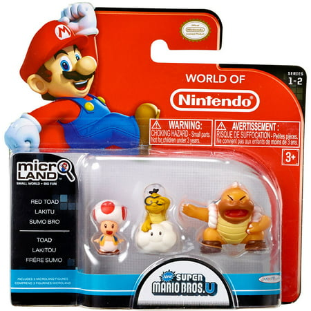 Red Toad, Lakitu & Super Sumo Bro Mini Figure 3-Pack World of (The Best Sumo Wrestler In The World)