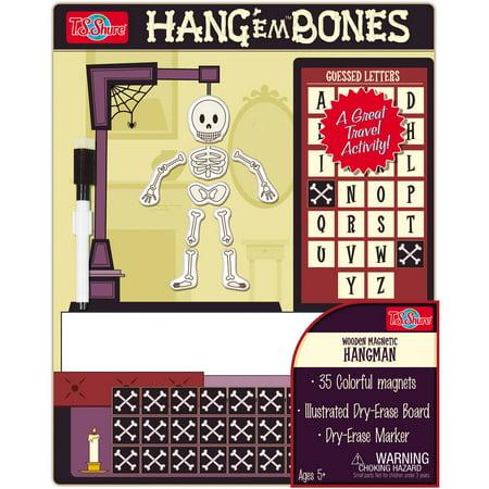 T S  Shure Hangem Bones Wooden Magnetic Hangman Game