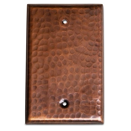 Monarch Abode Pure Copper Hammered Blank Wall Plate