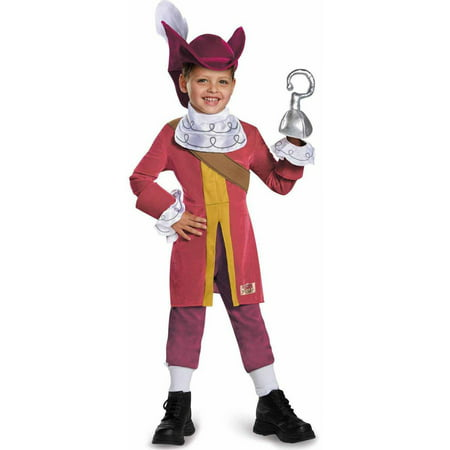 Captain Jake and the Neverland Pirates Captain Hook Deluxe Toddler Halloween Costume - Jake The Pirate Costume