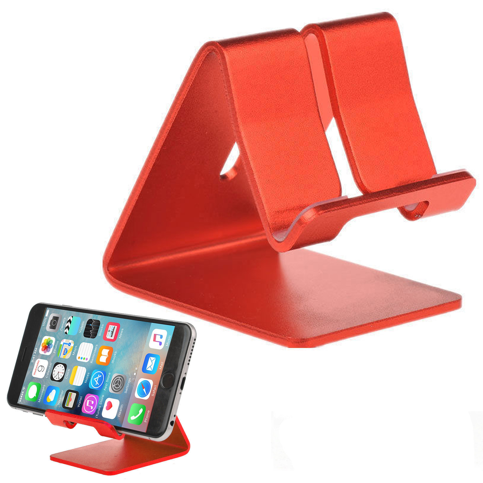 Universal Cell Phone Holder, Desk Charger Stand Mount, Alloy Aluminum Metal  Surface Cradle Charge