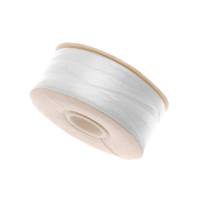 NYMO Nylon Beading Thread Size D for Delica Beads - White 64 Yards (58 Meters)