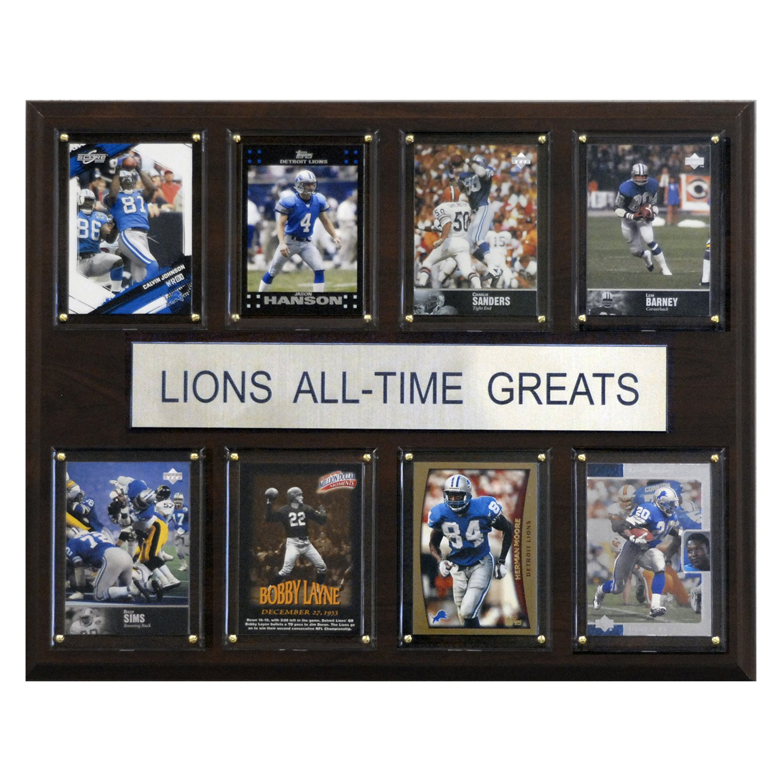 C&I Collectables NFL 12x15 Detroit Lions All-Time Greats Plaque
