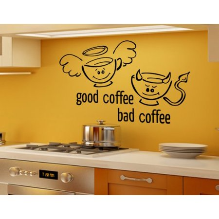 Good Coffee Bad Coffee Wall Decal - Wall Sticker, Vinyl Wall Art ...