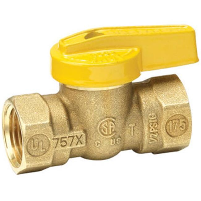 Homewerks VGV1LHB2BB 0.38 In. Brass Gas Ball Valve - image 1 of 1