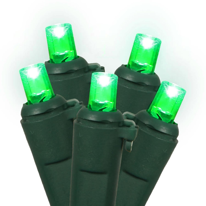 set of 60 green led wide angle christmas lights green wire walmartcom