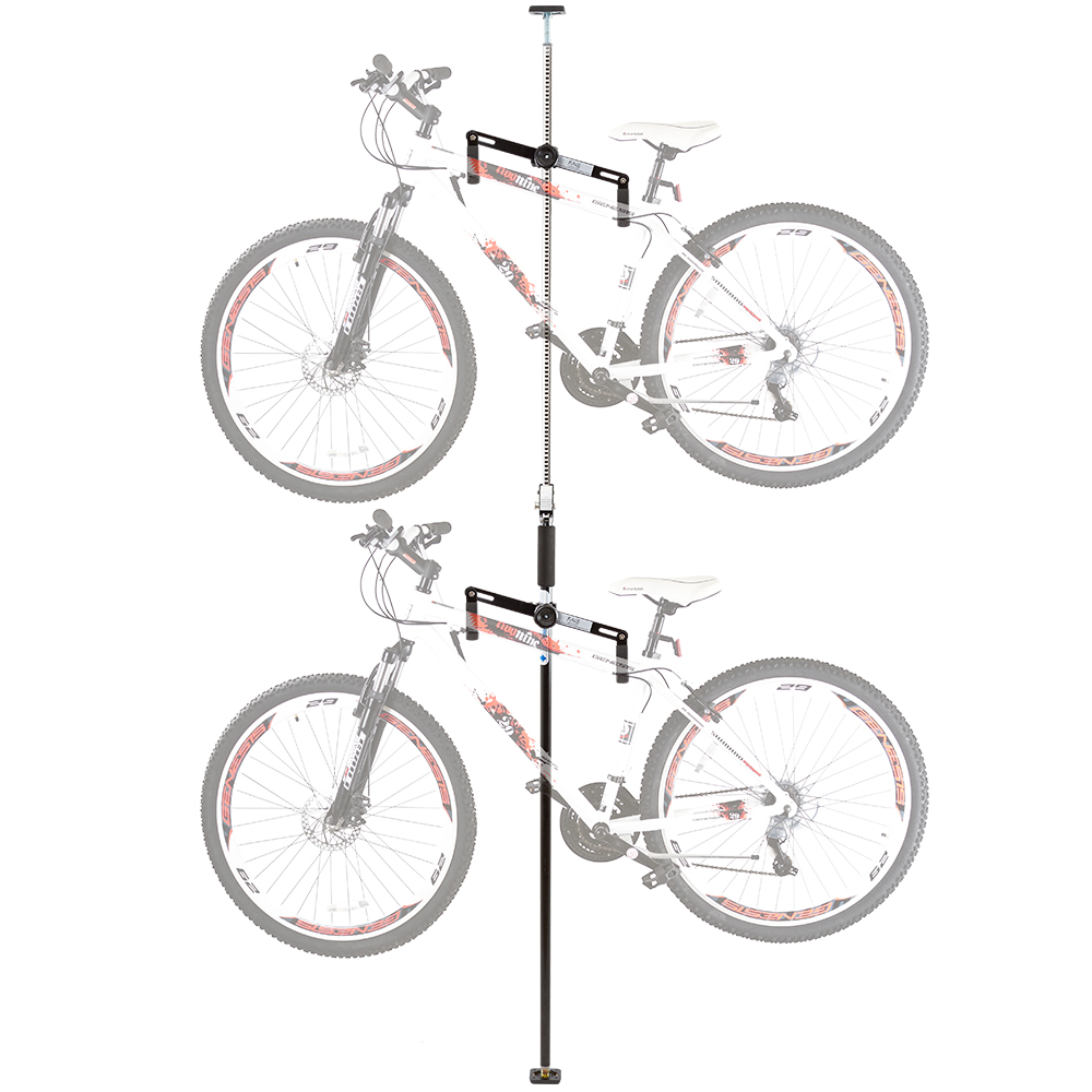 Rage Powersports Double Vertical Bicycle Storage Hanger R...