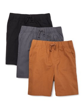 Garanimals Toddler Boy Canvas Pull On Utility Shorts, 3-pack