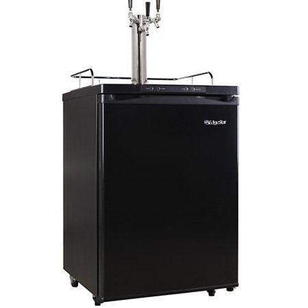 EdgeStar Full Size Triple Tap Kegerator with Digital Display - Black