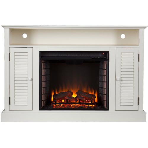 Harper Blvd Herschel Antique White Media Console Fireplace ...