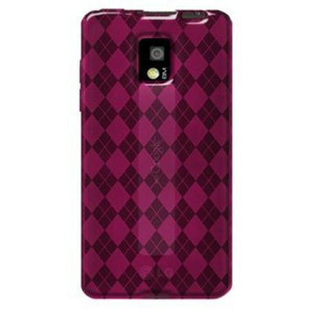 Premium Designer High Gloss TPU Soft Gel Skin Case for LG Optimus 2X P990, LG G2x - Hot Pink (Lg Optimus 2x P990)