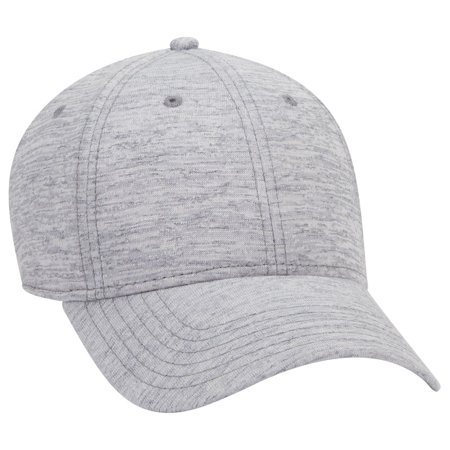 OTTO 6 Panel Rayon Blend Jersey Knit Cotton Twill Low Profile Cap - Heather Gray