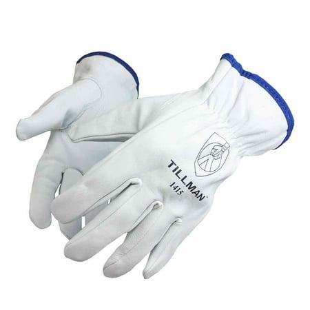 Tillman Top - Tillman 1415 Unlined Top Grain Goatskin Drivers Gloves, Small