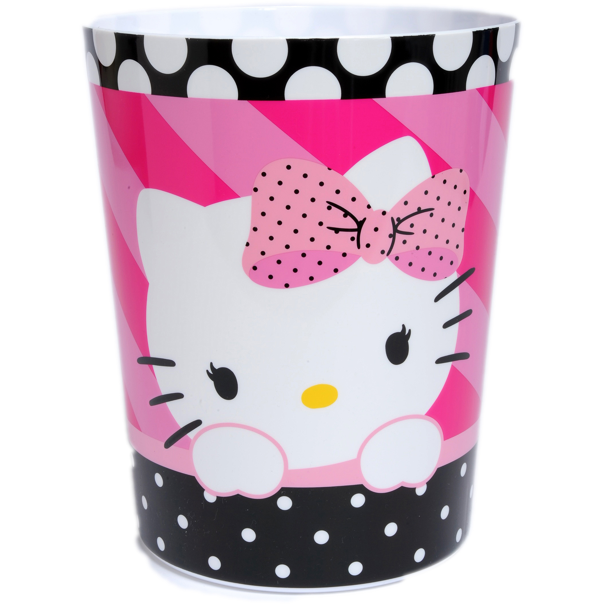 Hello Kitty Dots J'Adore Waste Basket