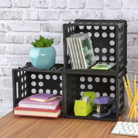 Sterilite Mini Crate Black Walmart Com