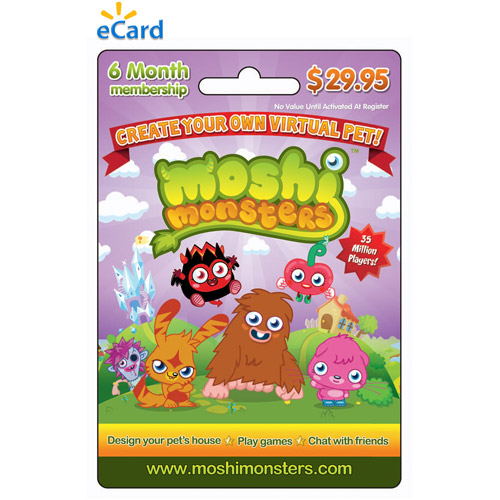 Mind Candy Moshi Monsters  6 month Game eCard $29.95  (Email Delivery)