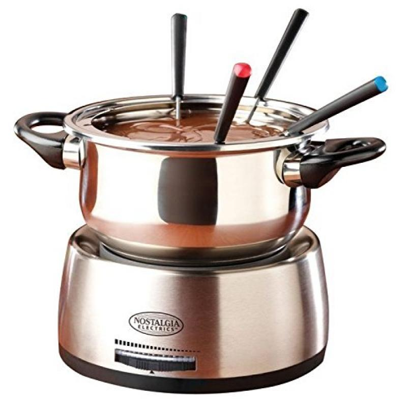 Electrics Stainless Steel Fondue Pot Chocolate Cheese Mel...