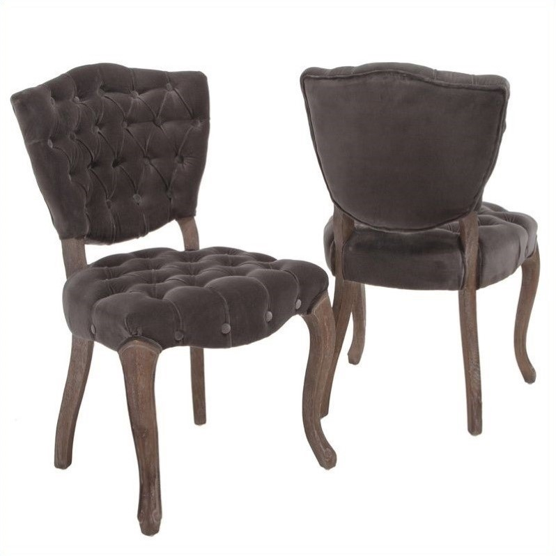 Trent Home Chandler Dining Chairs in Charcoal (Set of 2)