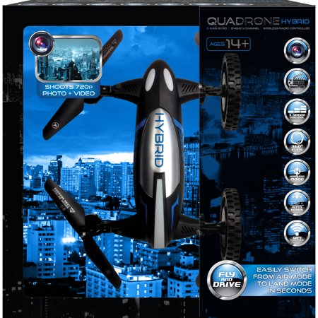 Aerial Quadrone Hybrid Drone And Car In 1 With Camera For Photo And Video