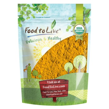 Organic Turmeric Powder, 1 Pound - High in Curcumin, Non-GMO, Ground Turmeric Root, Raw, Kosher, Vegan, Bulk - by Food to Live