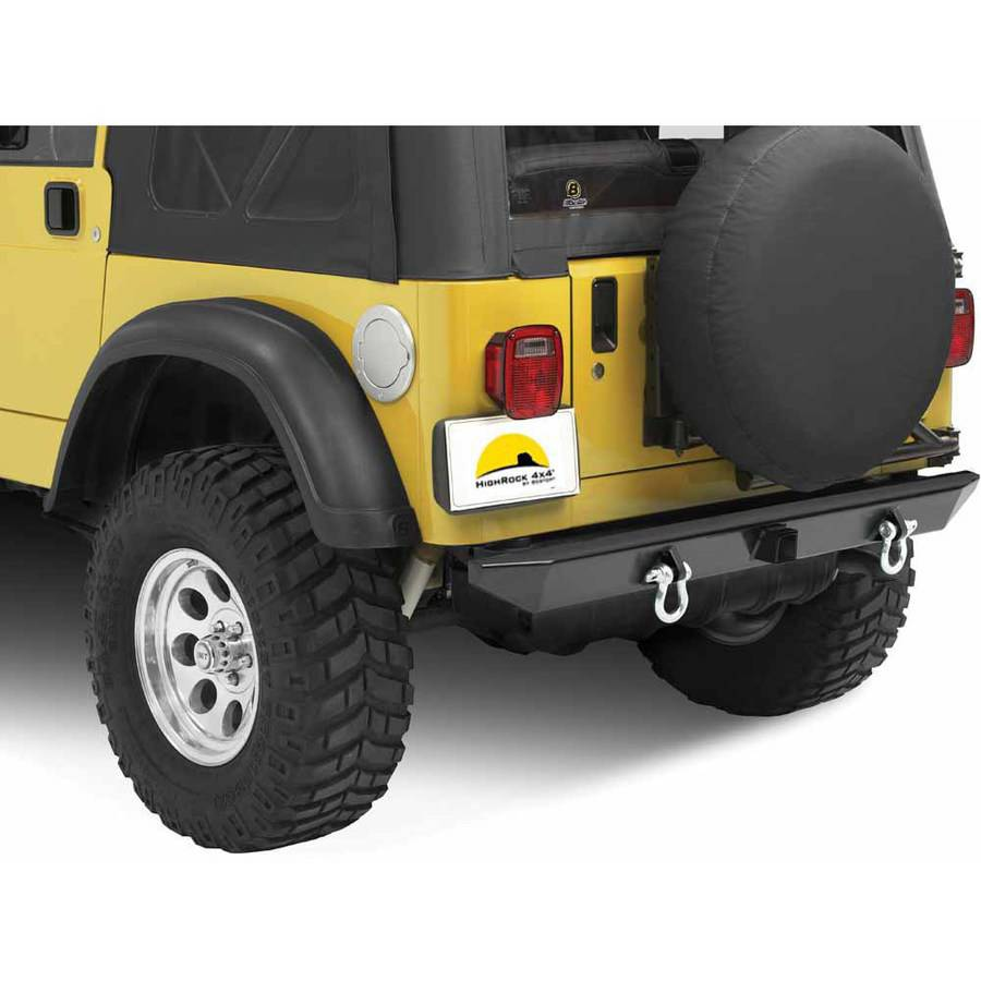 "Bestop 44902-01 Wrangler Highrock 4X4 Rear Bumper with 2"" Receiver Hitch"