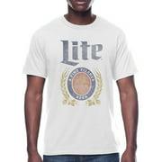 Men's Beer Miller Lite Crest Logo Graphic T-shirt