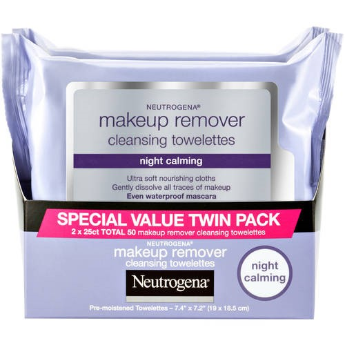 Neutrogena Night Calming Makeup Remover Cleansing Towelettes, 50 ct