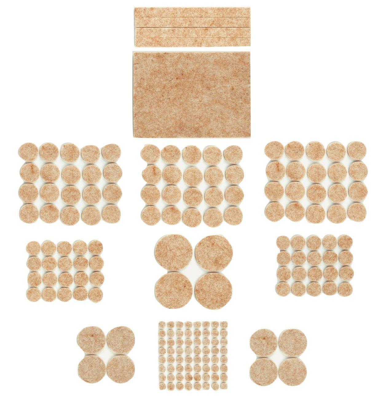 Felt Furniture Pads Stickers By Vipat@Home: Pack Of 181 Felt Floor Protectors For Laminate, Vinyl & Wood Floorings Beige... by