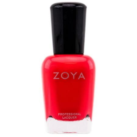 Zoya Natural Nail Polish - Orange & Coral - Kylie - ZP299 - White And Orange Halloween Nails