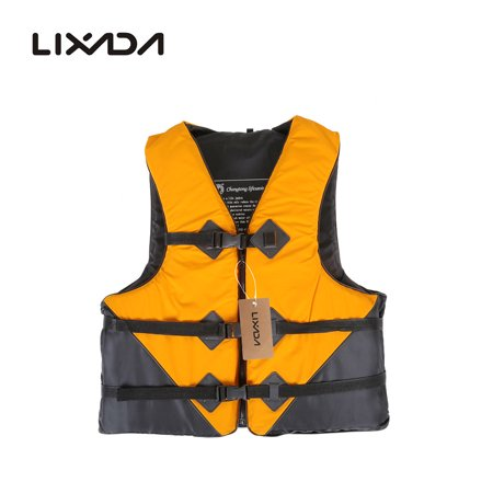 Lixada Professional Polyester Adult Safety Survival Vest Swimming Boating Drifting with Emergency (Best Drift Boat For The Money)