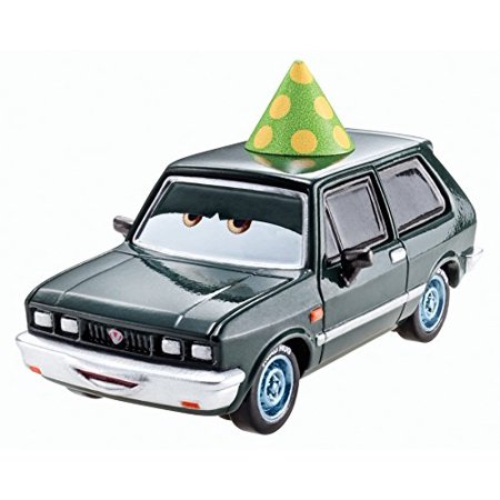 Disney Pixar Cars Black Hugo with Party Hat Diecast Vehicle - image 1 de 1