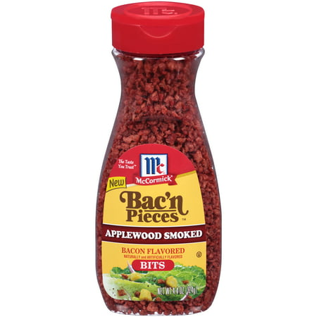 (2 Pack) McCormick® Imitation Applewood Smoked Bacon Bits, 4.4 - Back Bacon