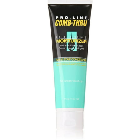 6 Pack - Pro-Line Comb-Thru Lite Creme Moisturizer Hair & Scalp Conditioner 4 (Best Moisturizer For Dry Relaxed Hair)