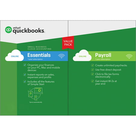 QuickBooks Online Essentials Payroll Bundle 2017 (Email