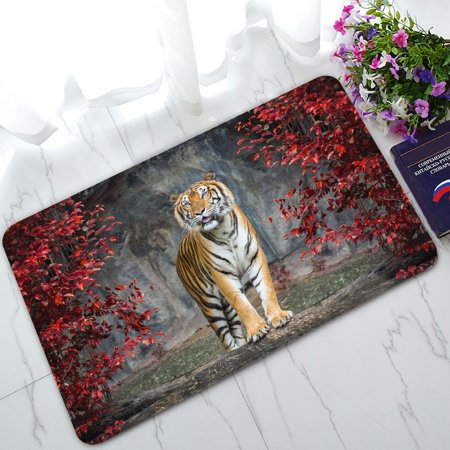 PHFZK Landscape Nature Scenery Doormat, Animal Tiger Doormat Outdoors/Indoor Doormat Home Floor Mats Rugs Size 30x18 -