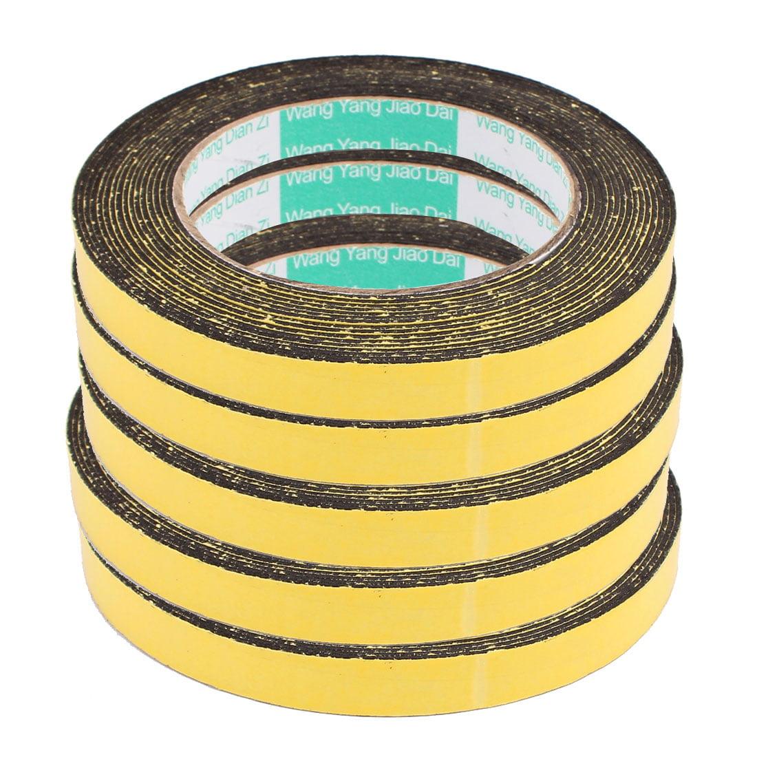 5Pcs 12mm x 1mm Single Sided Self Adhesive Shockproof Sponge Foam Tape 5M Length