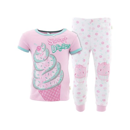 Duck Duck Goose Girls Sweet Dreams Pink Cotton Pajamas