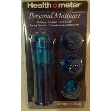 Personal Massager, Compact Size, Blue, Quiet and Powerful vibrating massage By Health-o-Meter