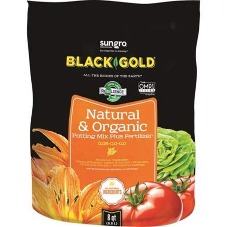 Image of 1302040 8-Quart All Organic Potting Soil, The all purpose organic potting soil that fits all your needs; convenience, quality tested organic.., By Black Gold