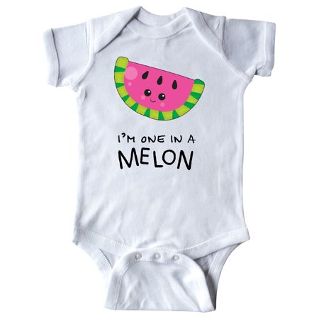 Funky Infant Clothes - I'm One in a Melon- funny watermelon Infant Creeper